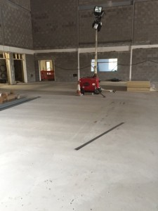 A concrete flooring project previously carried out by J Henshaw