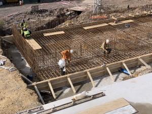 47 tonne of steel reinforcement