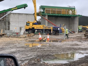 6m height concrete retaining walls